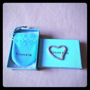 Tiffany & co Elsa Peretti heart key chain